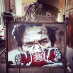 OCCUPY PASOLINI on metal Belongs now to Linda Minio in Favara, italy