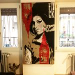 BIG BEN AMY Stencil on canvas Belongs to Rosanna Gasparro in Rome, Italy